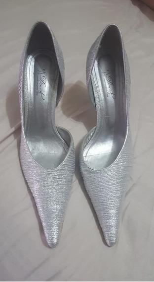 Sapato Durval (festa) Prateado