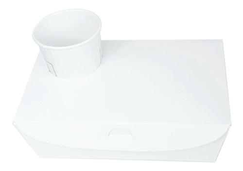 50 Caja Con Portavaso Para Take Away De Café 23x15x7,5cm Dx