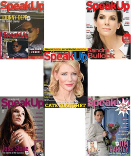 5 Revista Speak Up + Cd P/ Curso De Ingles Idioma Treino Eng