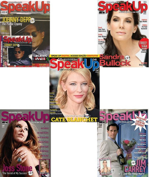 5 Revista Speak Up + Cd P/ Curso De Ingles Idioma Treino Eng