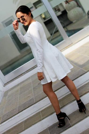 Vestido Linea A Blanco