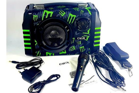 Caixa De Som Mp3 Usb Bluetooth Portátil Sem Fio Microfone
