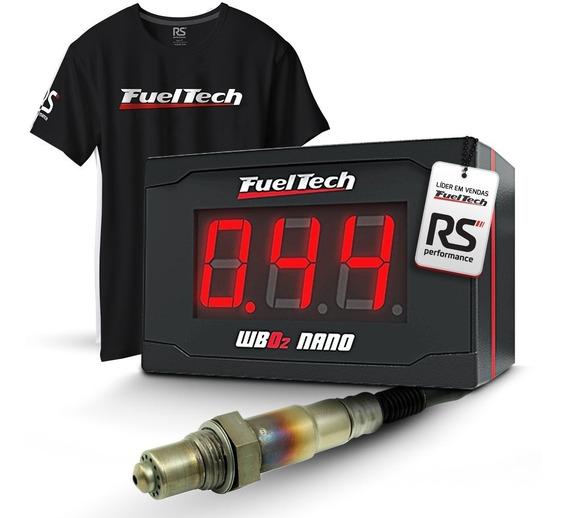 Fueltech Wideband O2 Nano C/ Sonda Bosch Chicote 2 Metros