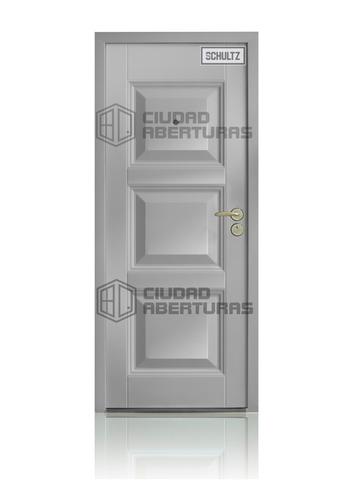 Puerta Blindada Schultz 40kg- 2 Años Gtía- Tono Blanco- Izq