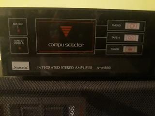 Amplificador Sansui Am-800 Incluye Parlantes Leer Detalles