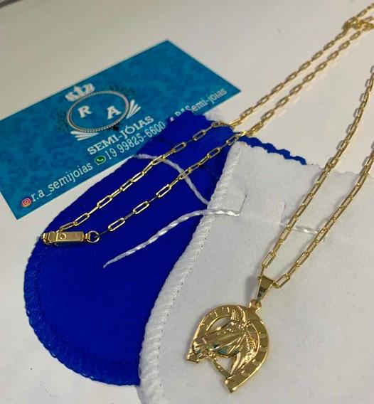 Cartier Banhado A Ouro 18k + Pingente