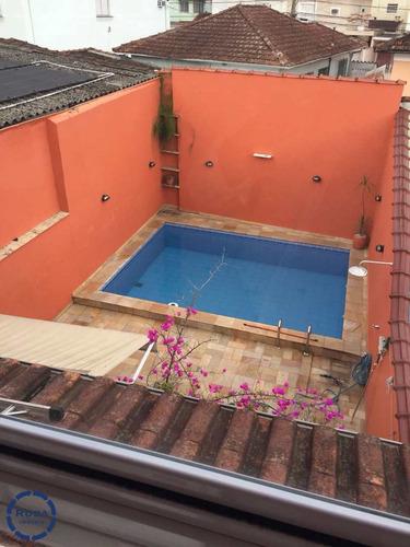 Sobrado Com 3 Dorms, Encruzilhada, Santos - R$ 1 Mi, Cod: 15602 - V15602