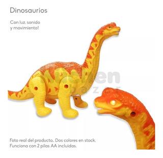 Juguete Dinosaurio Luz Sonido A Pila Juego Cresko Cuotas