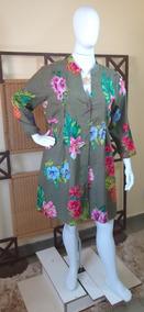 Vestido Chemise/saída De Praia Plus Size/ Moda Indiana C319