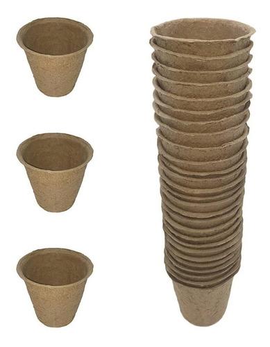25 Macetas Biodegradables Para Uso Floral U Horticola Nº9