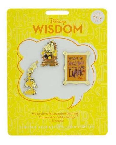 Imagen 1 de 2 de Set De Pines Lumiere, Disney Wisdom, Disney Store (6 De 12)
