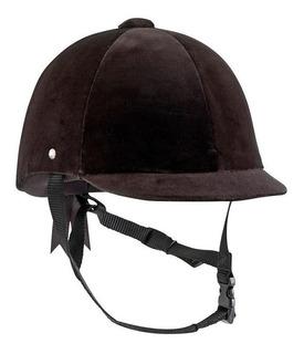 Casco Para Equitación Negro Para Montar Caballo Tersiopelo