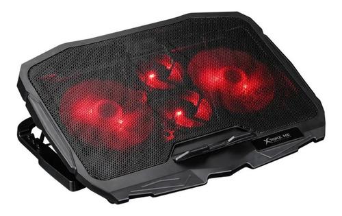 Bandeja Ventilador Cooler Gamer Luz Fondo Xtriker Me Fn-802