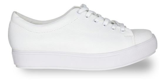 Zapatilla De Mujer Fiori Modelo Kia Blanca