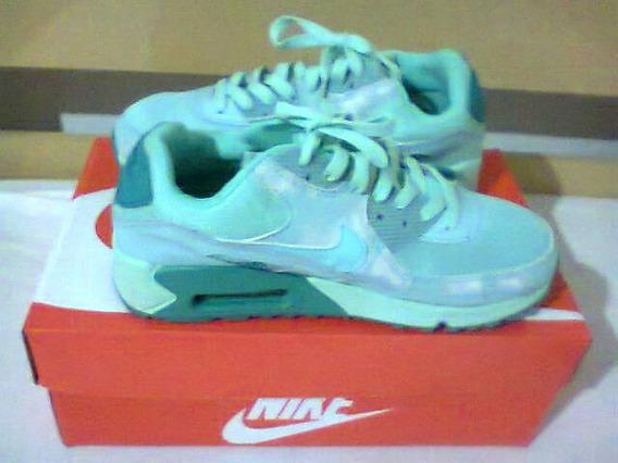 Tenis Nike Air Max 90 Verde Agua Nº37 Original Na Caixa