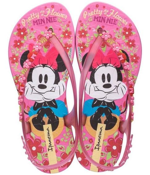 Chinelo De Dedo Sandalia Ipanema Joy Minnie Disney Floral
