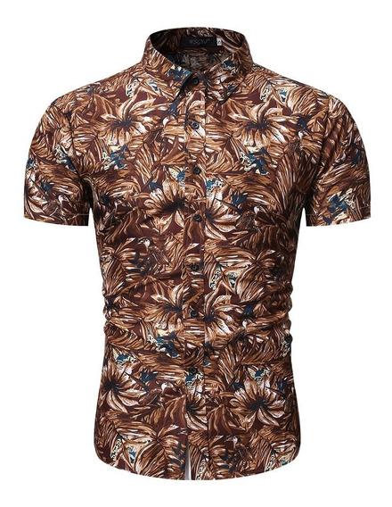 Camisa Floreada Hawaiana