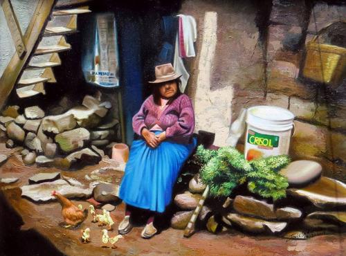 Imagen 1 de 2 de Esperando - Pintura Al Óleo (sedamanos Art)