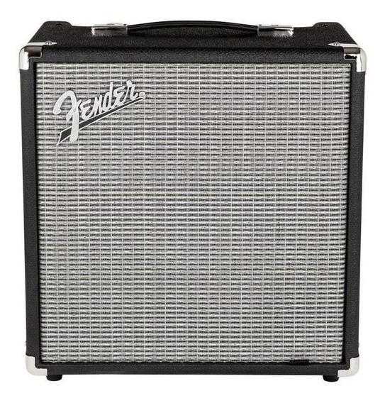 Amplificador Fender Rumble 25 25W transistor negro y plata 220V