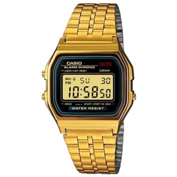 Relógio Casio Vintage Digital A159wgea-1df Dourado