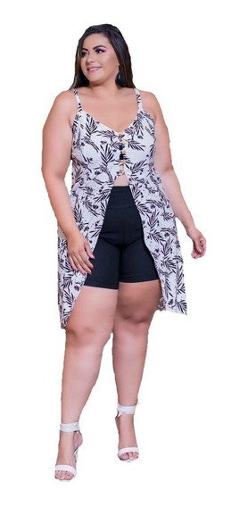 Conjunto Plus Size Blusa E Short Plus Size 48 A 52