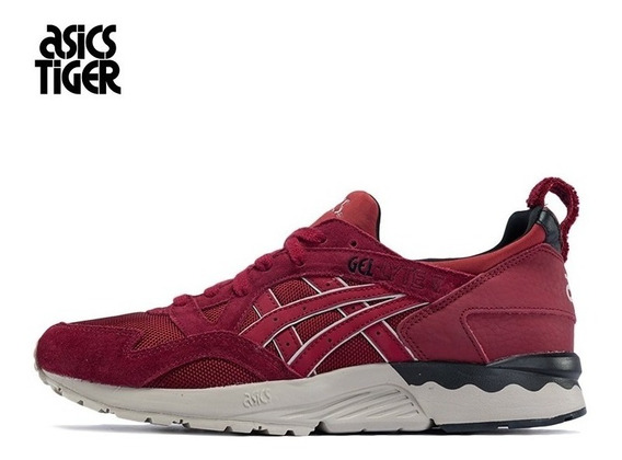 Asics Gel Lyte V Bordo Casual Academia Sneakers Retro