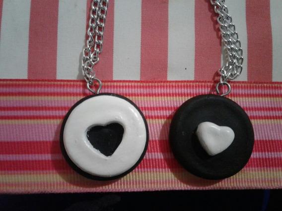 Collares/llaveros Galleta Oreo Amistad/amor