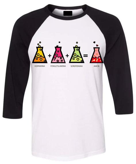 Playera Ranglan 3/4 Corte Caballero Sublimado Química Matraz