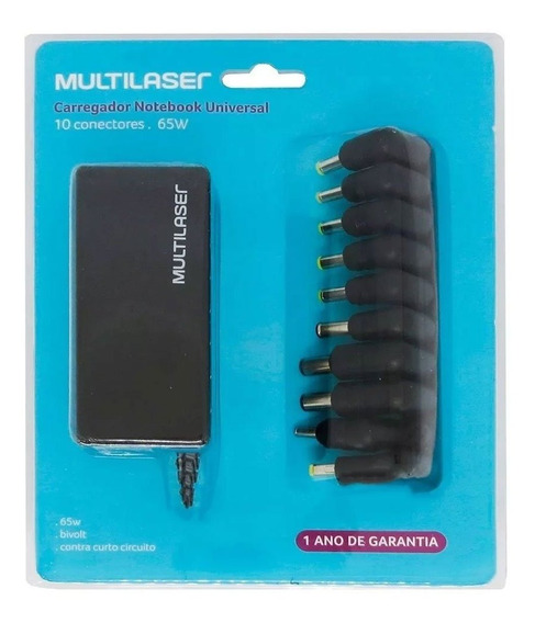 Carregador Para Notebook Universal 65w Cb082 - Multilaser