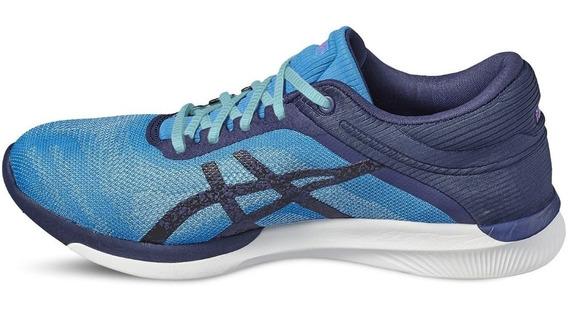 Tenis Asics Tiger Mujer Azul Fuzex Rush T768n4349