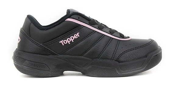 Zapatillas Topper Lady Tie Break Mujer - Negro Rosa