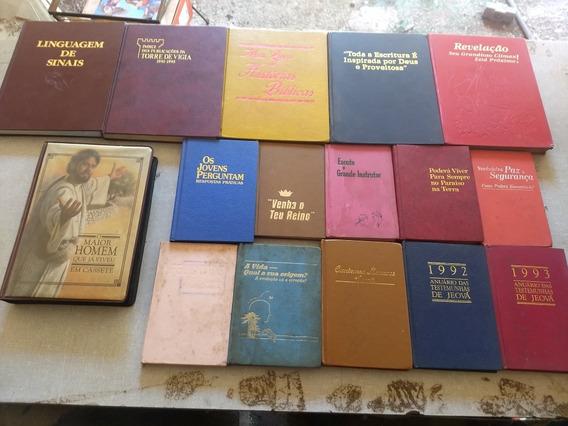 15 Livro Capa Dura Testemunha Jeová + 6 Fita Cassete Raras