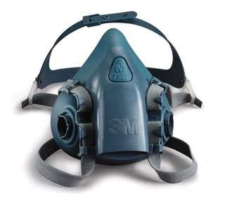 Respirador Máscara 3 M Tamanhos P 7501/ M 7502/ G 7503