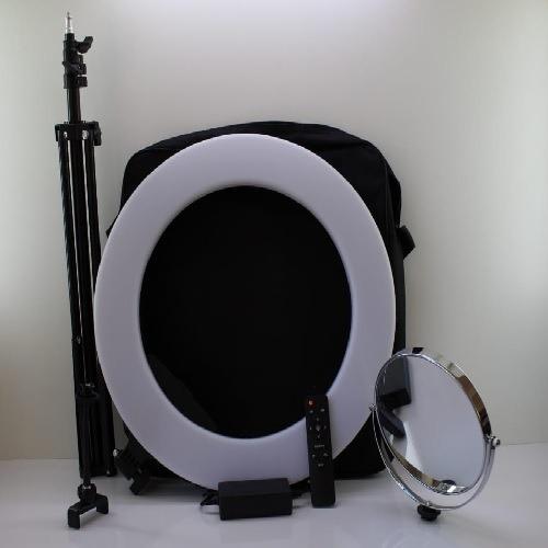 Iluminador Led Ring Light 52cm Tripé E Espelho Envio Rápido