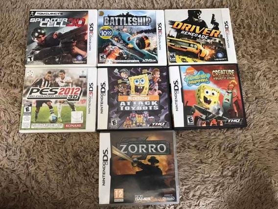 Lote De 7 Jogos Ds E 3ds Completos