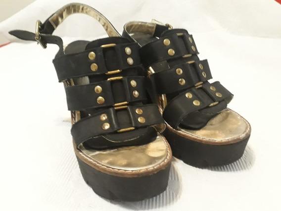 Zapatos De Taco Y Plataforma Negros Mujer