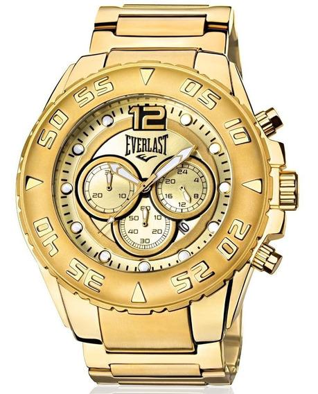 Relógio Everlast Masculino Dourado Analógico - E631