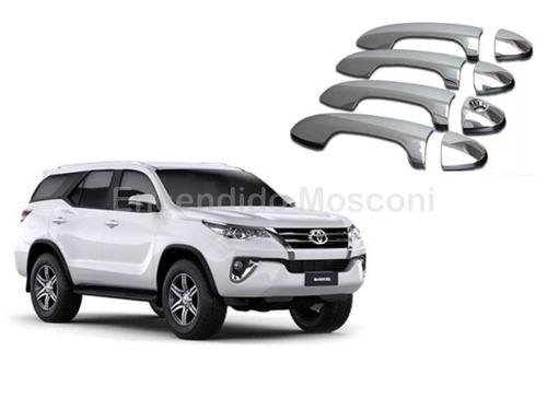 Kit De 4 Cubre Manijas Cromadas Toyota Hilux Sw4
