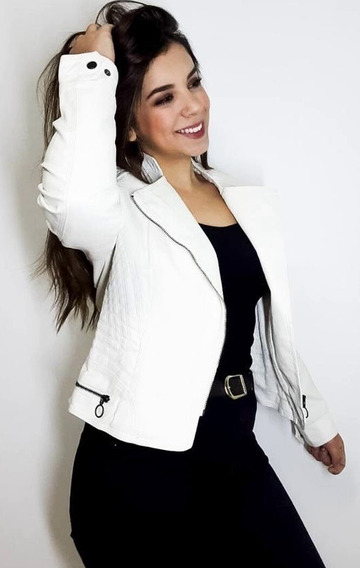 Jaqueta Casaco Blusa Couro Feminina Slim Inverno Promoção