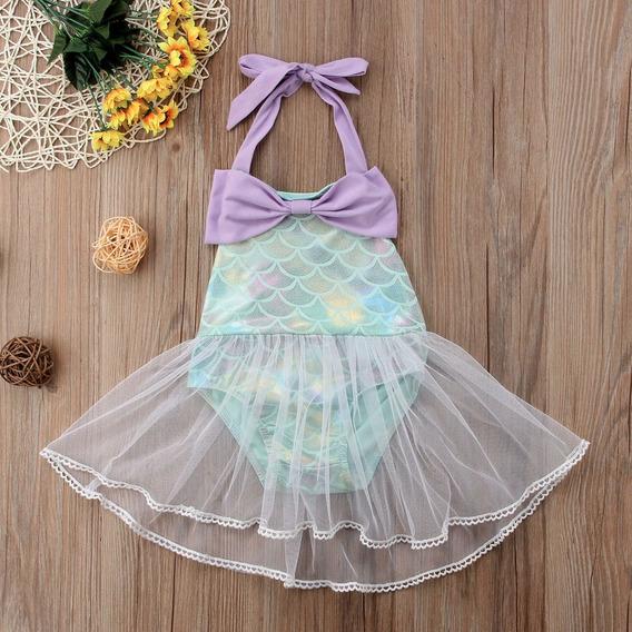 Traje De Baño/ Disfraz / Vestido Sirenita