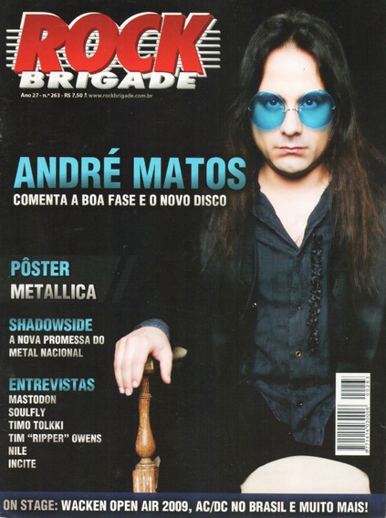 Rock Brigade 263 Andre Matos Angra Metallica Soulfly Kiss