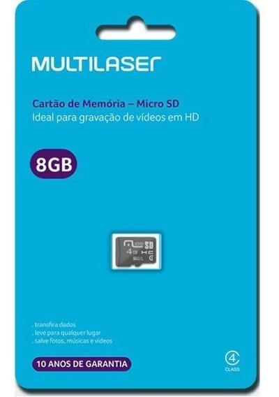Cartão De Memoria Micro Sd 8gb - Mc141 - Multilaser