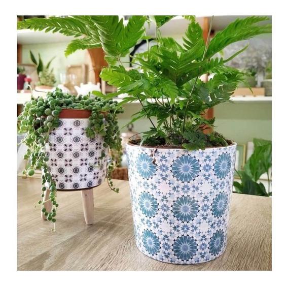 Conjunto 3 Cachepots De Cerâmica Para Mini Flores.