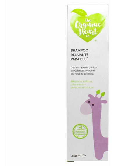 Shampoo Relajante Para Bebé The Organic Heart Co 250ml