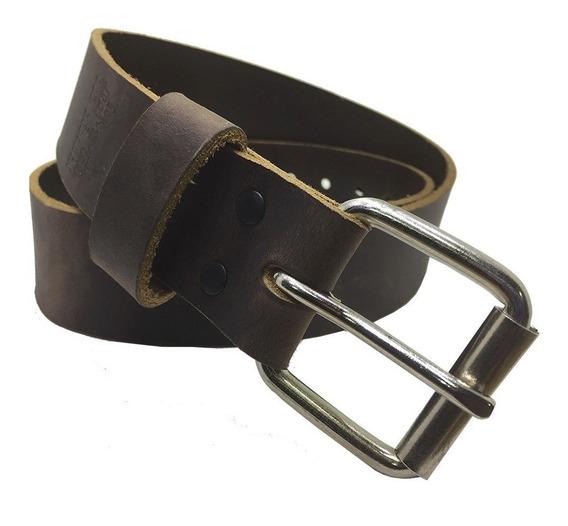 Cinturon Rustico Talla Extra 46-62 Piel Genuina 38mm