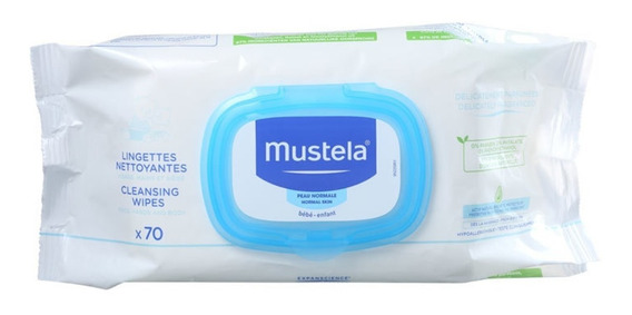 Mustela Bébé Dermo Soothing - Lenços De Limpeza 70 Unid Blz