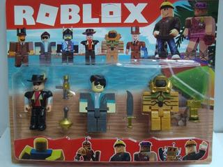 Roblox Tipo Lego X 3 Muñecos Desarmables Con Accesorios