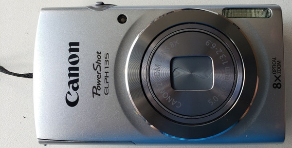 Câmera Canon Powershot Elph 135 - Usada