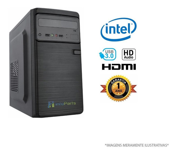 Computador Home Office Intel Core I7-7700 4gb Ram, Hd 500gb