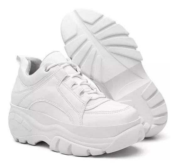 Tênis Sneaker Linc Plataforma De 5cm Altura+mascara D Brinde